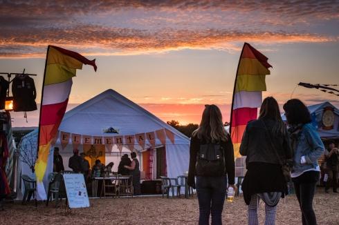 Sunset at the Wickham Festival